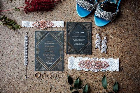 Industrial Garden Wedding with Red Velvet and DIY Details