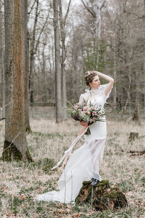 Into the Winter Woods with a Falconer Bride