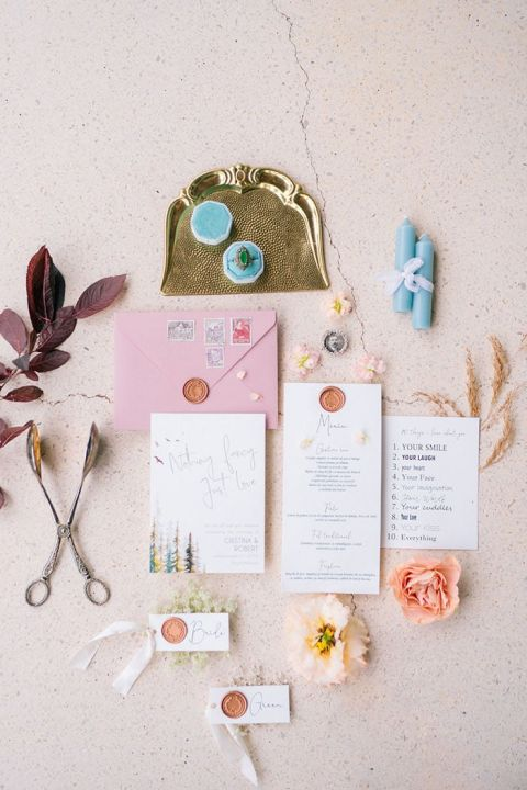 Colorful, Sweet, and Simple Wedding Invitations