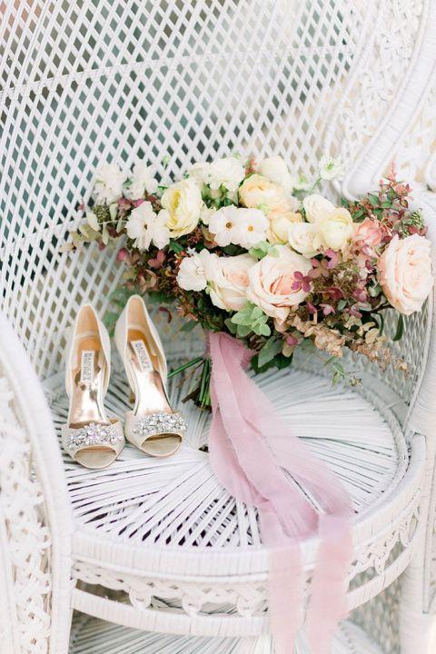 Summery and Sweet Garden Bridal Session in Santa Barbara