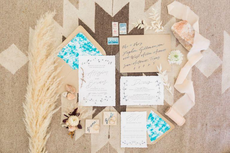 Bohemian Glamping Wedding Invitations