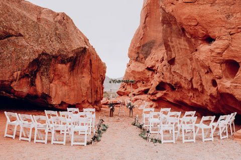 Intimate Valley of Fire Wedding Ceremony