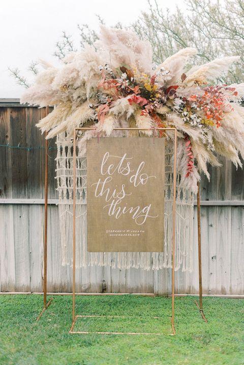 How To Dress Up A Backyard Boho Wedding In Style Hey Wedding Lady