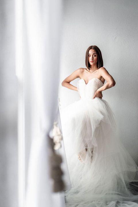 Architectural Wedding Dress by Carol Hannah