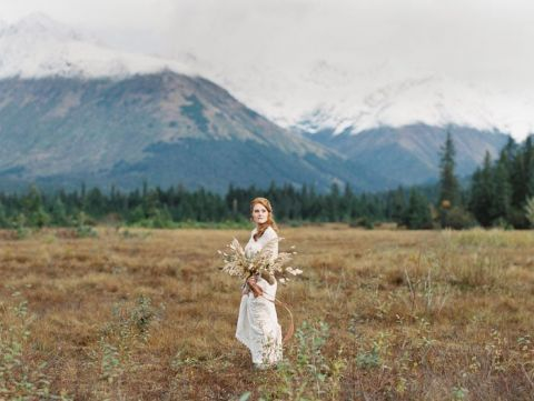 Wild Love Alaskan Wedding Celebrating Fall Foliage