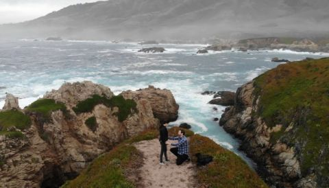 Our Proposal Story with a Drone Engagement in Big Sur