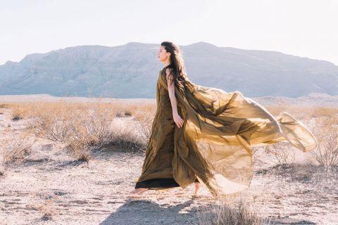 Unique Elopement Dress for a Colorful Wedding Dress Alternative