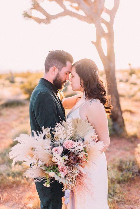Pastel Bohemian Aesthetic Wedding in Joshua Tree