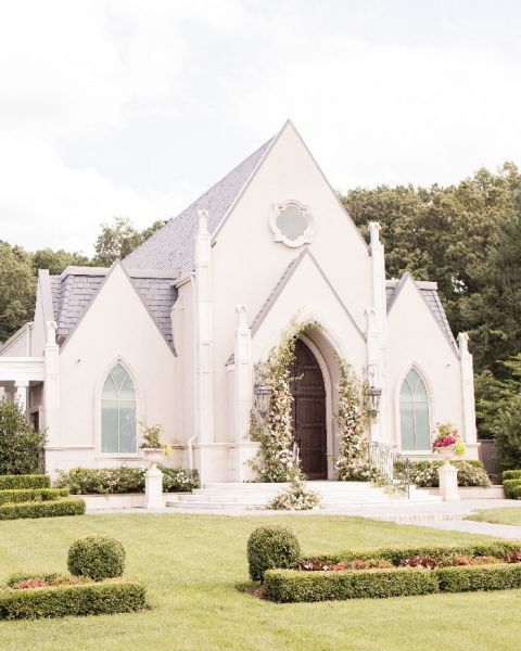 Fairy Tale Chapel Wedding with Princess Beatrice Inspired Flower Arches