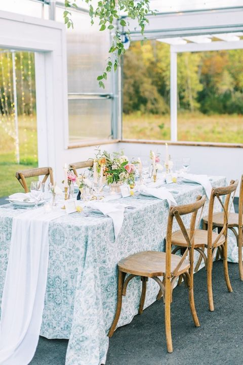 Italian Style Reception in a Greenhouse with Colorful Wedding Details