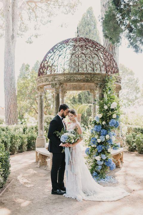 Enchanting Amalfi Coast Micro Wedding in Mediterranean Blue