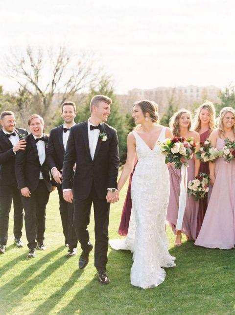 Romantic Blue and Burgundy Wedding in Dallas, Texas