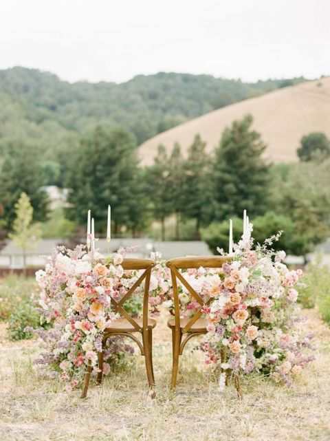 Elevated Rustic Wedding Flowers with a