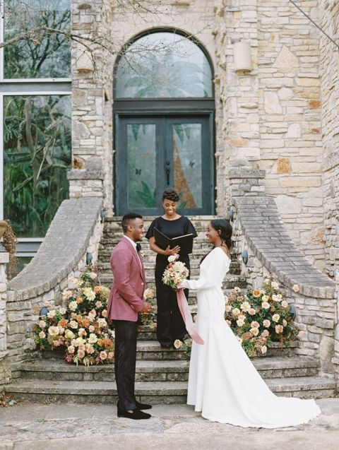 Southwestern Garden Flowers for a Greenhouse Wedding in Texas Hill Country